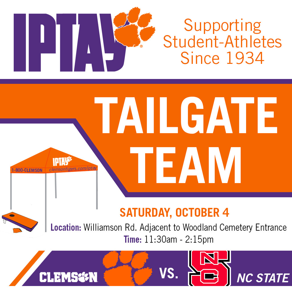 Tailgate Team Travels South For IPTAY Day vs. North Carolina State