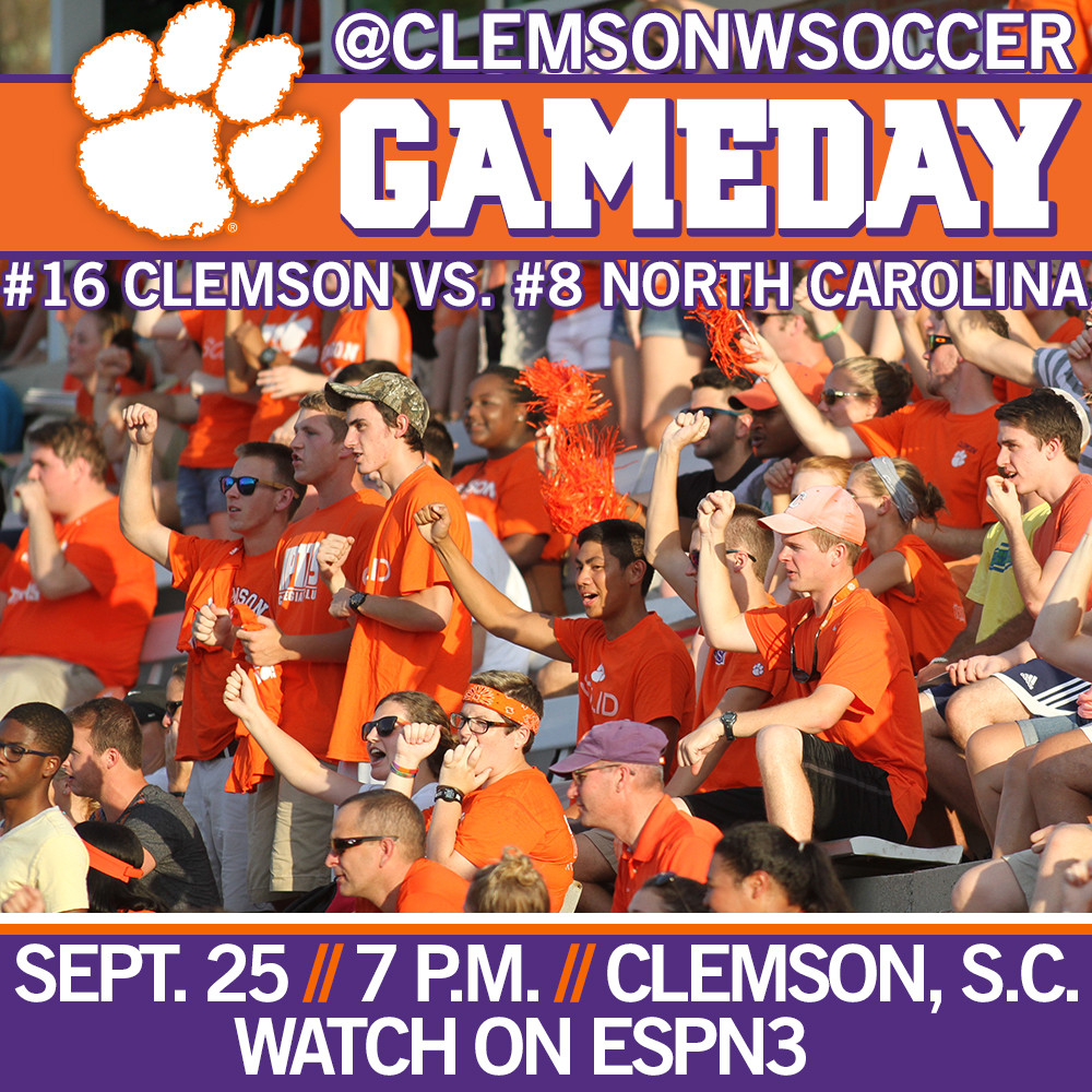 #16 Clemson Hosts #8 North Carolina Thursday Night
