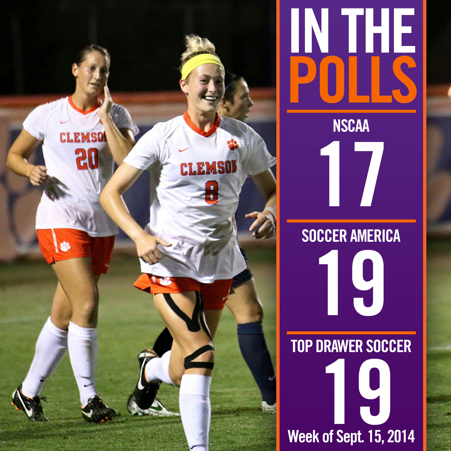 Tigers Remain No. 17 in NSCAA Ranking