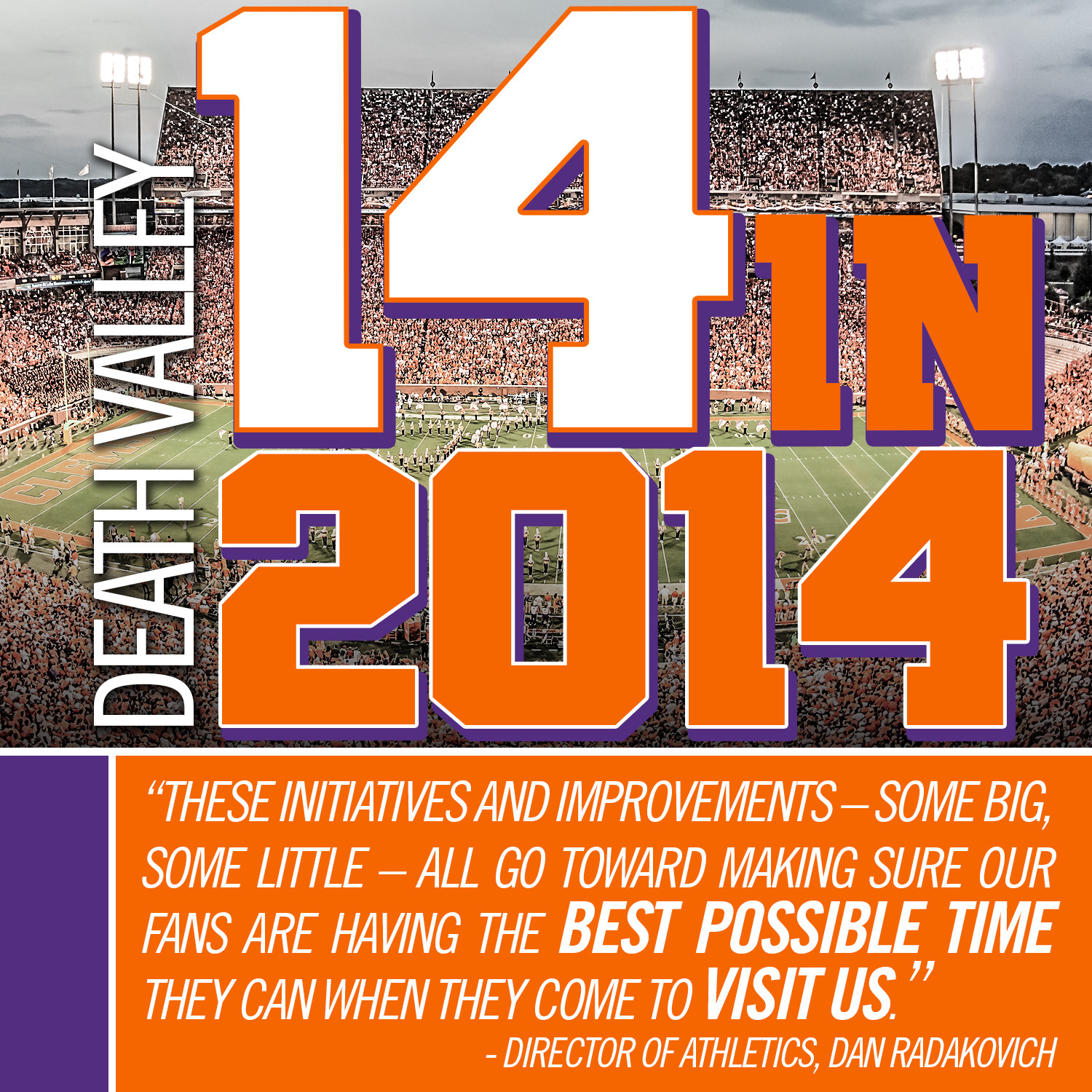 14 for 2014 – The Clemson Experience at Memorial Stadium