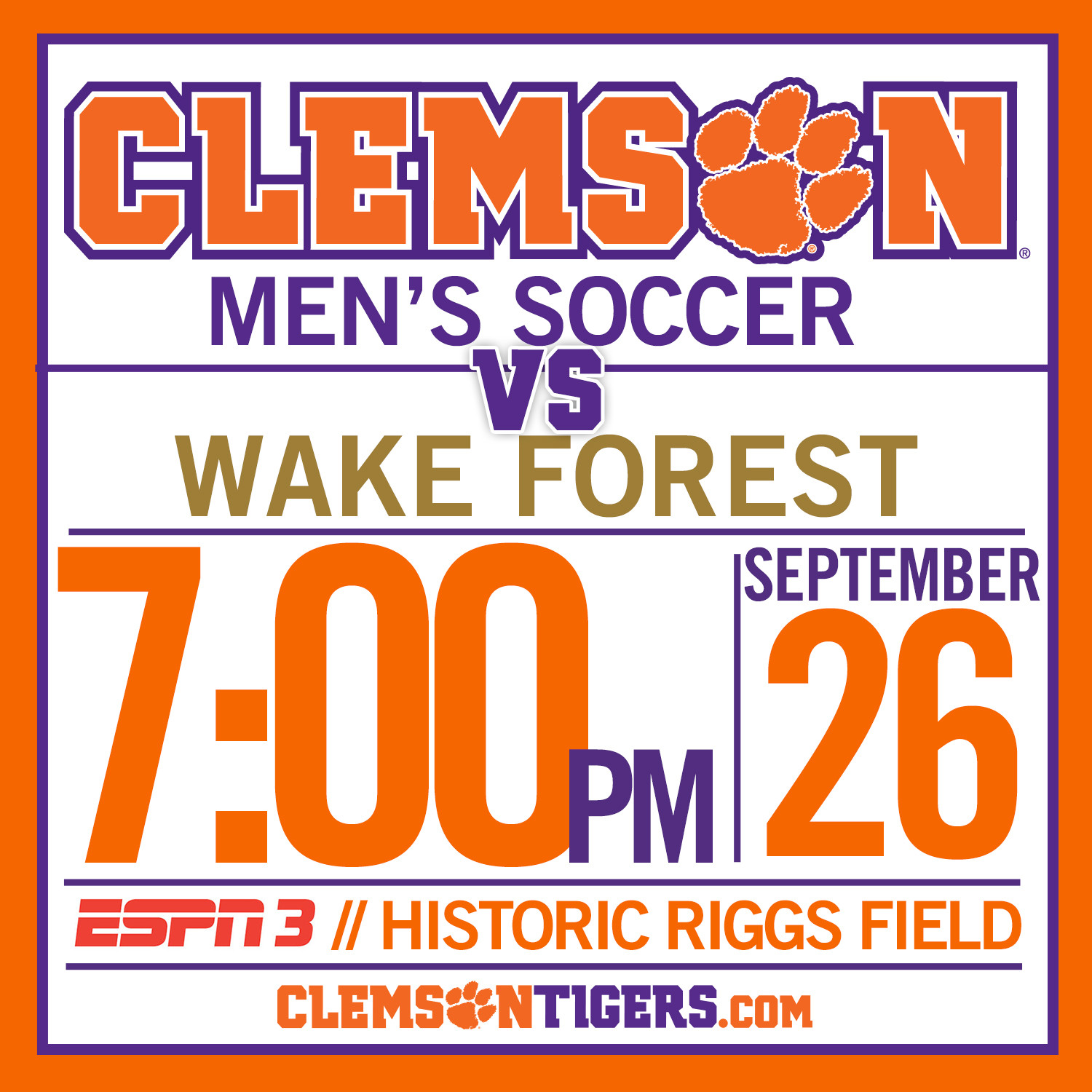 Clemson Hosts Wake Forest Friday, 1984 National Championship Team Returns