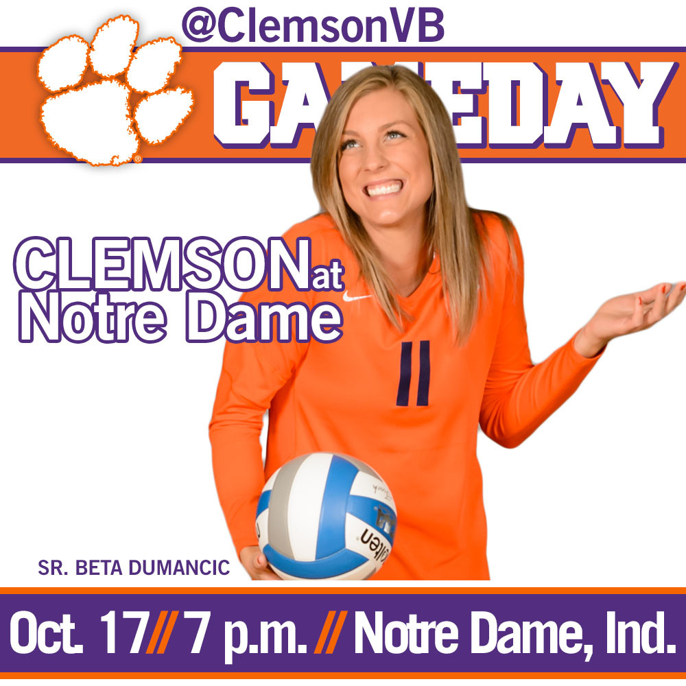 Tigers Face Notre Dame on the Road Friday