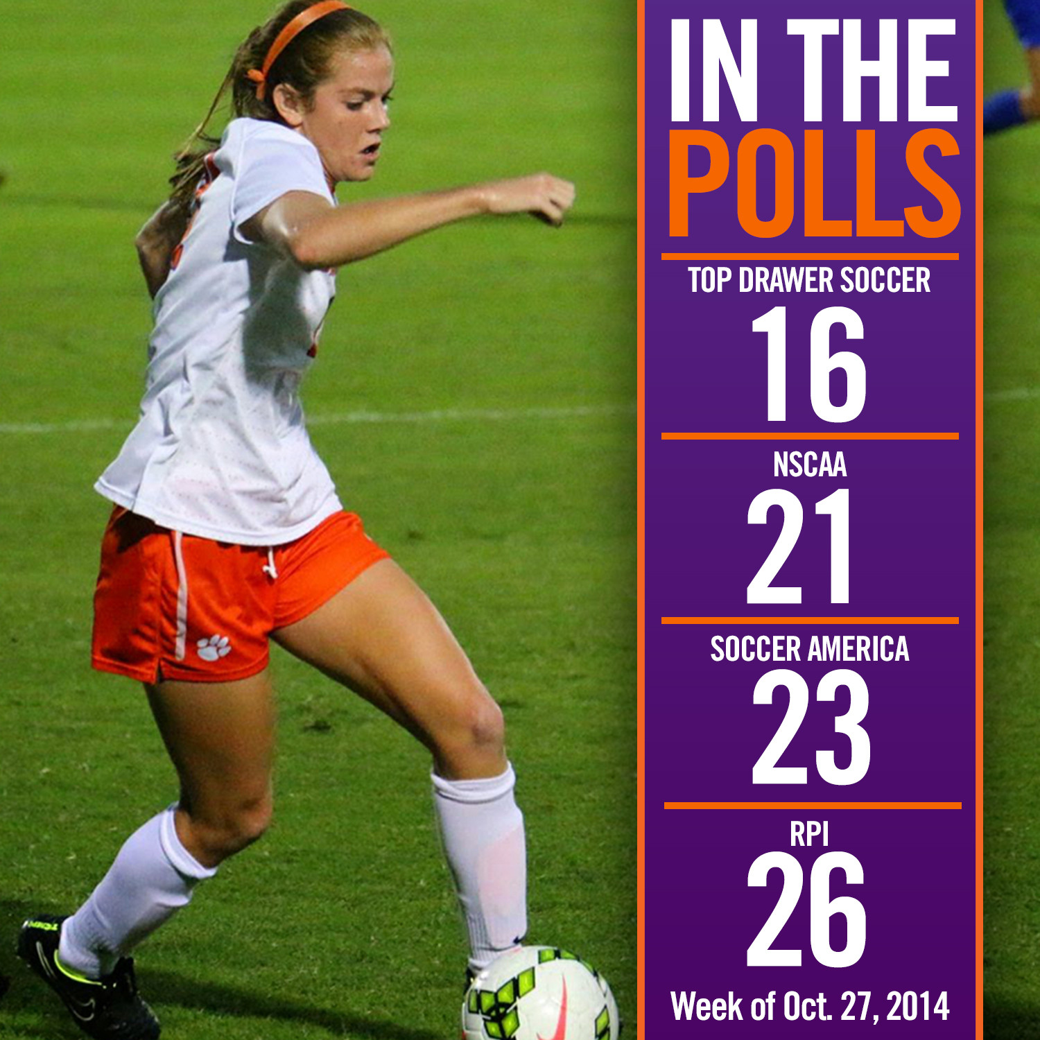 Tigers Ranked in All Three Polls, As High as 16