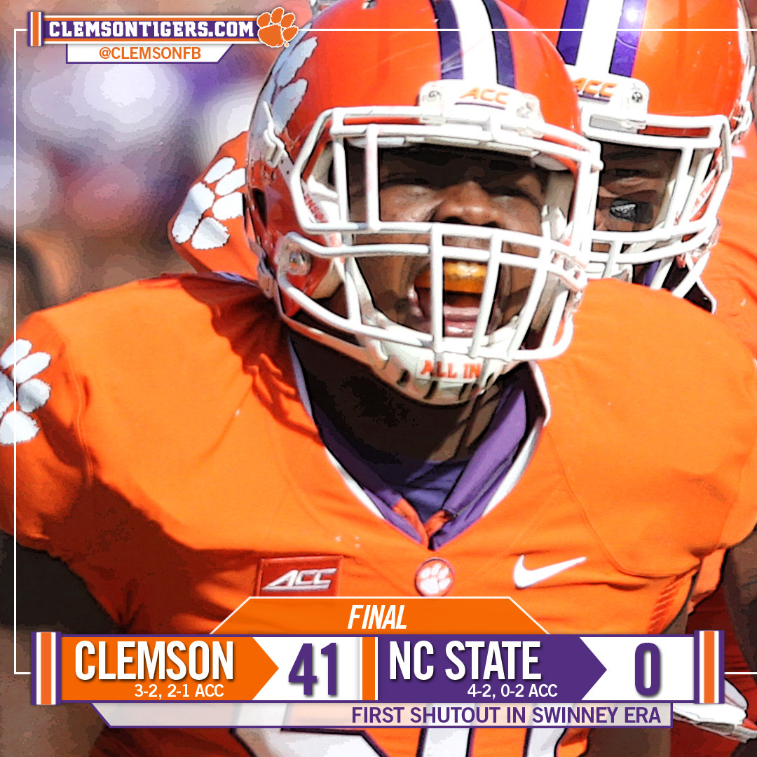 Tigers Tame Wolfpack, 41-0