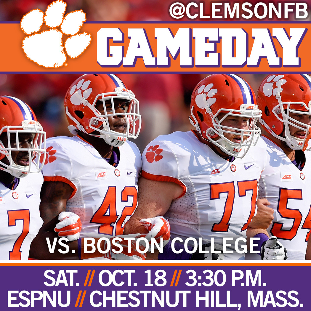 Clemson/BC Gameday Guide