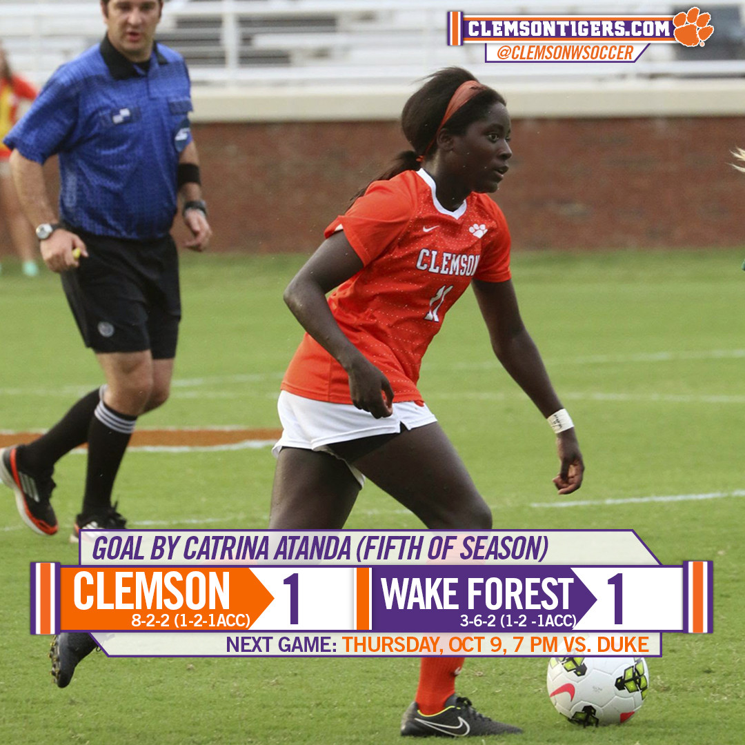 Clemson and Wake Forest Play to Double Overtime Tie Saturday