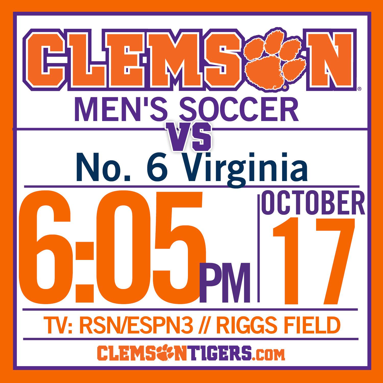 Clemson Hosts No. 6 Virginia Friday