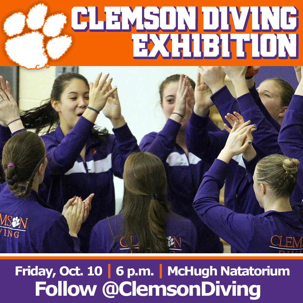 Tigers Hold Diving Exhibition Friday at 6 p.m.