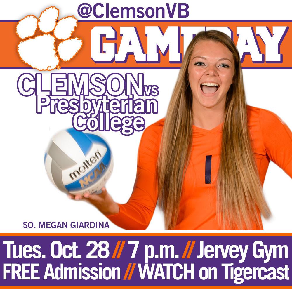 Clemson Hosts Presbyterian College Tuesday