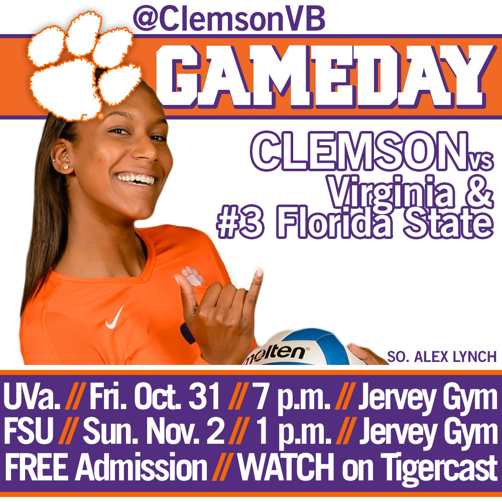 Tigers Host Virginia Friday, #3 Florida State Sunday