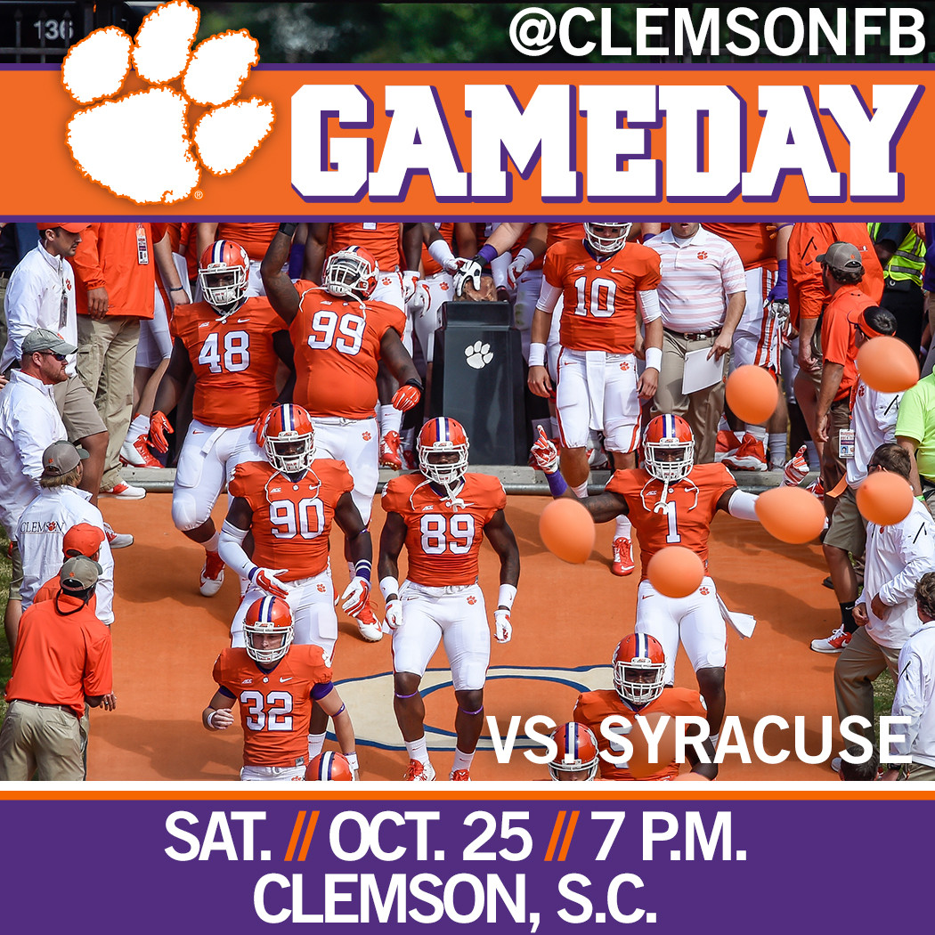 Clemson/Syracuse Gameday Guide
