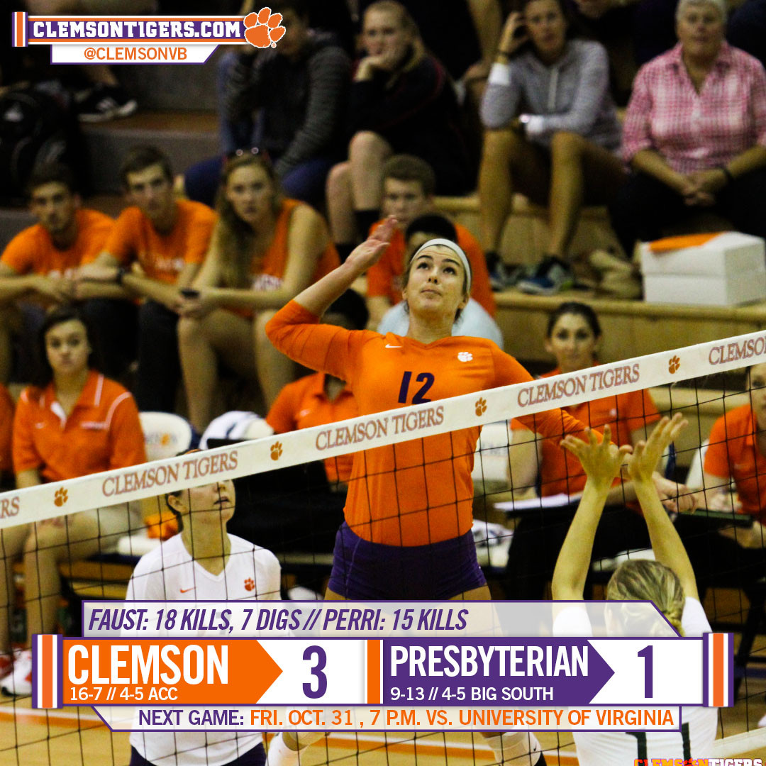 Tigers Take Down Blue Hose in Four Tuesday at Jervey Gym