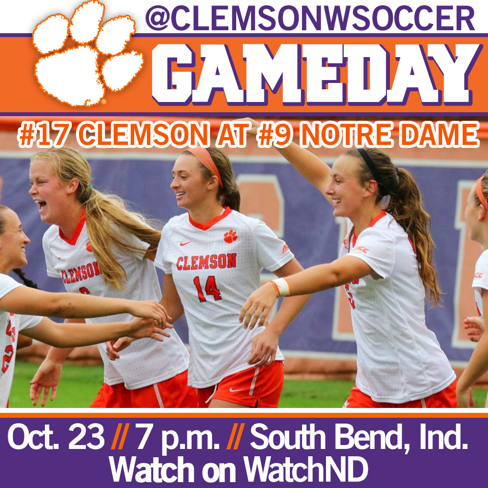 #17 Tigers Head to South Bend for Matchup with #9 Notre Dame Thursday