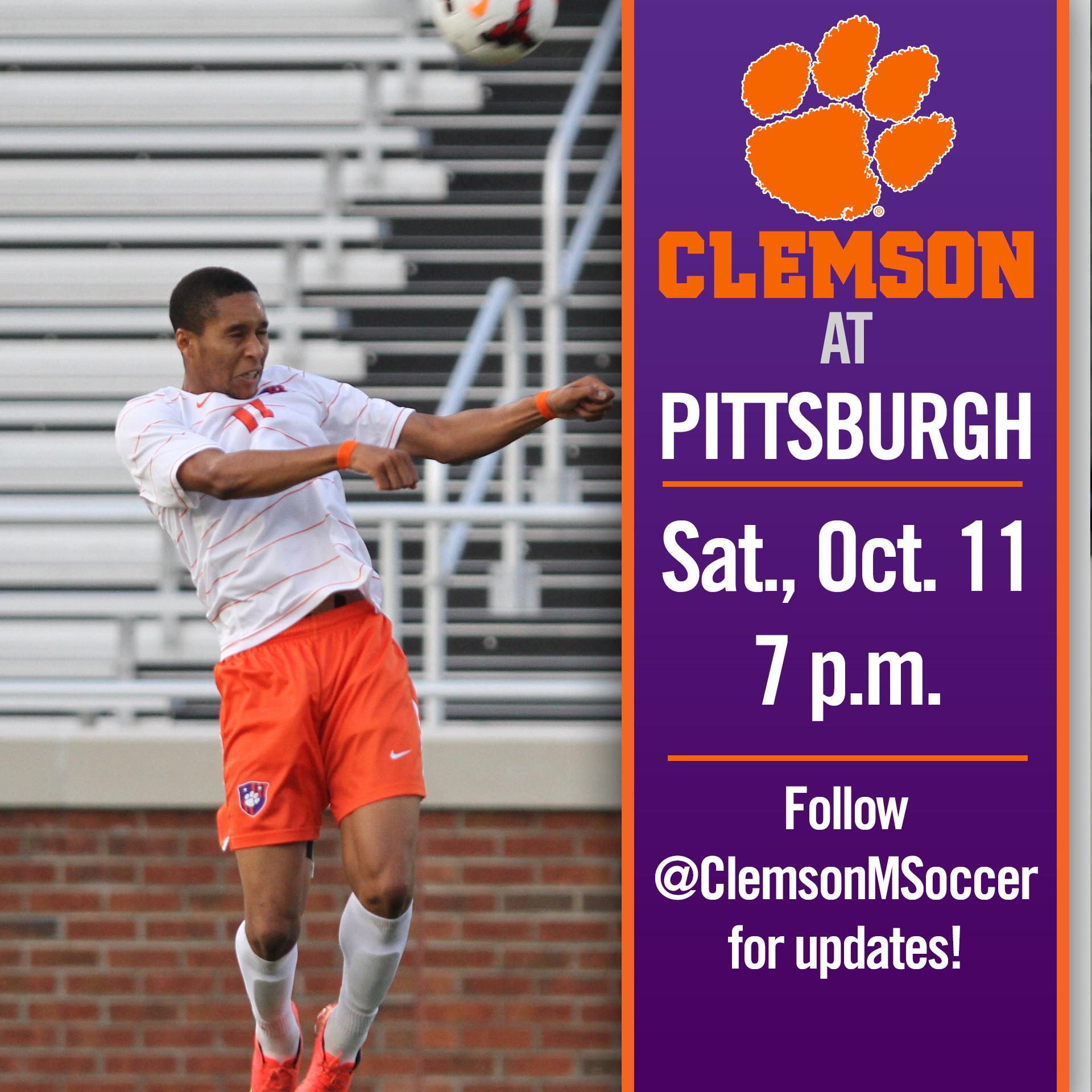 Clemson Travels to Pittsburgh Saturday Night