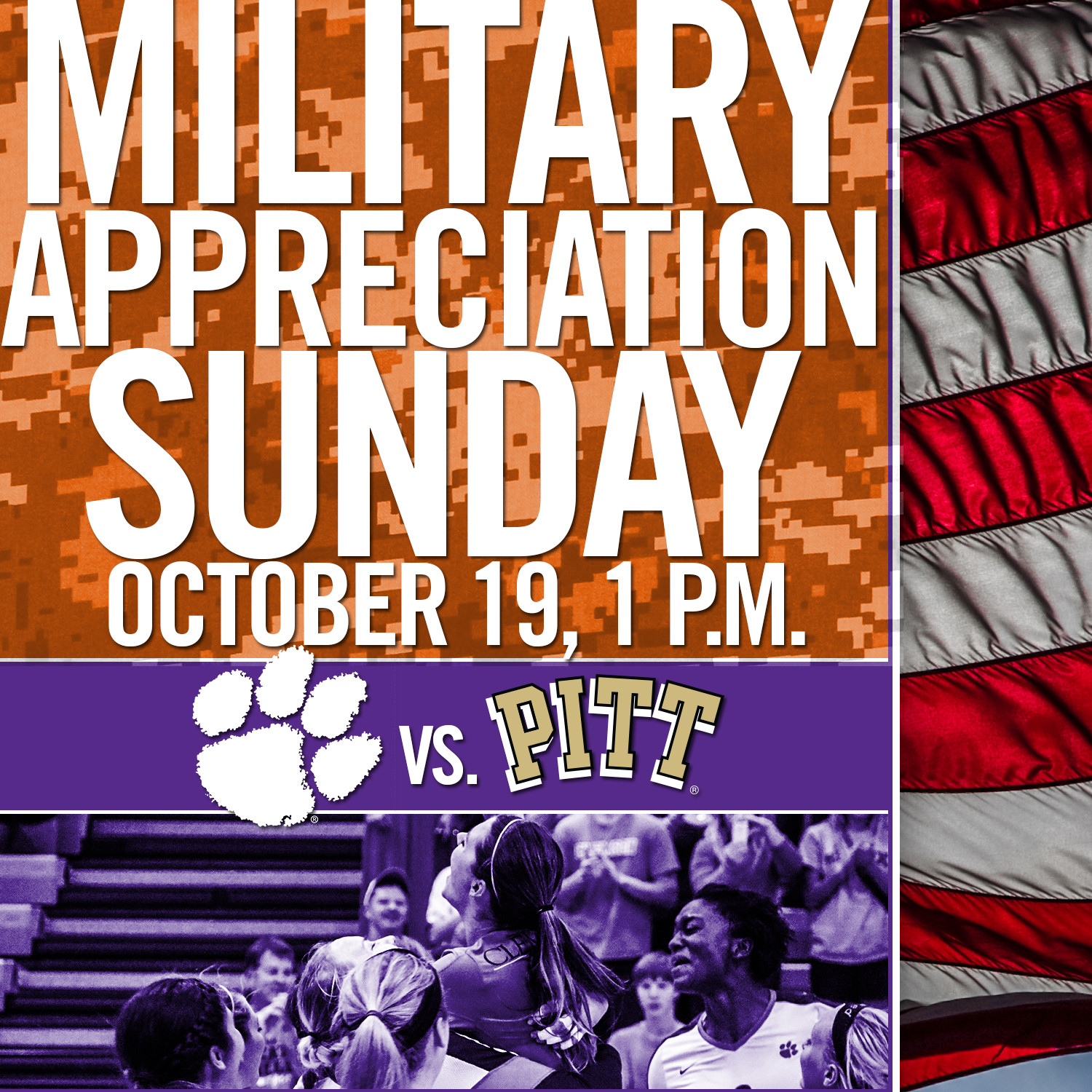 Tigers Host Pittsburgh for Military Appreciation Day Sunday