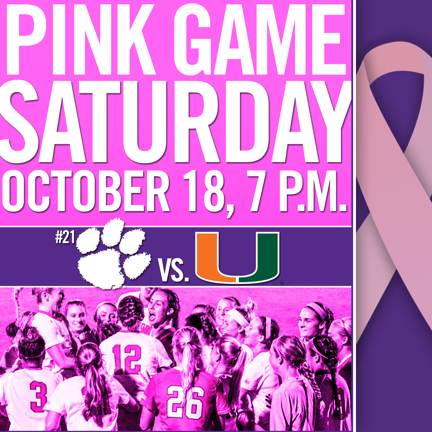 Tigers Host Miami in Pink Game Saturday Night at Historic Riggs Field