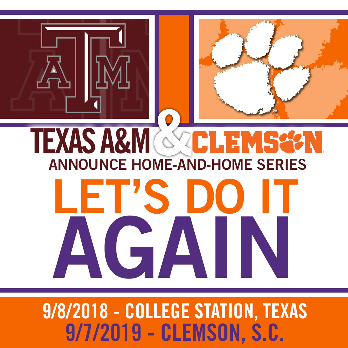 Tigers to Play Texas A&M