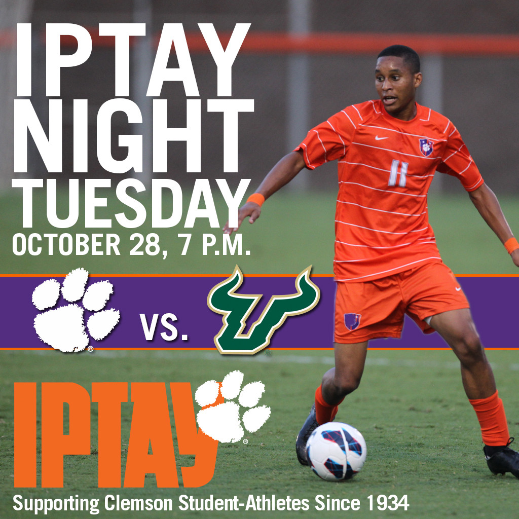 Tomorrow is IPTAY Night at Men's Soccer