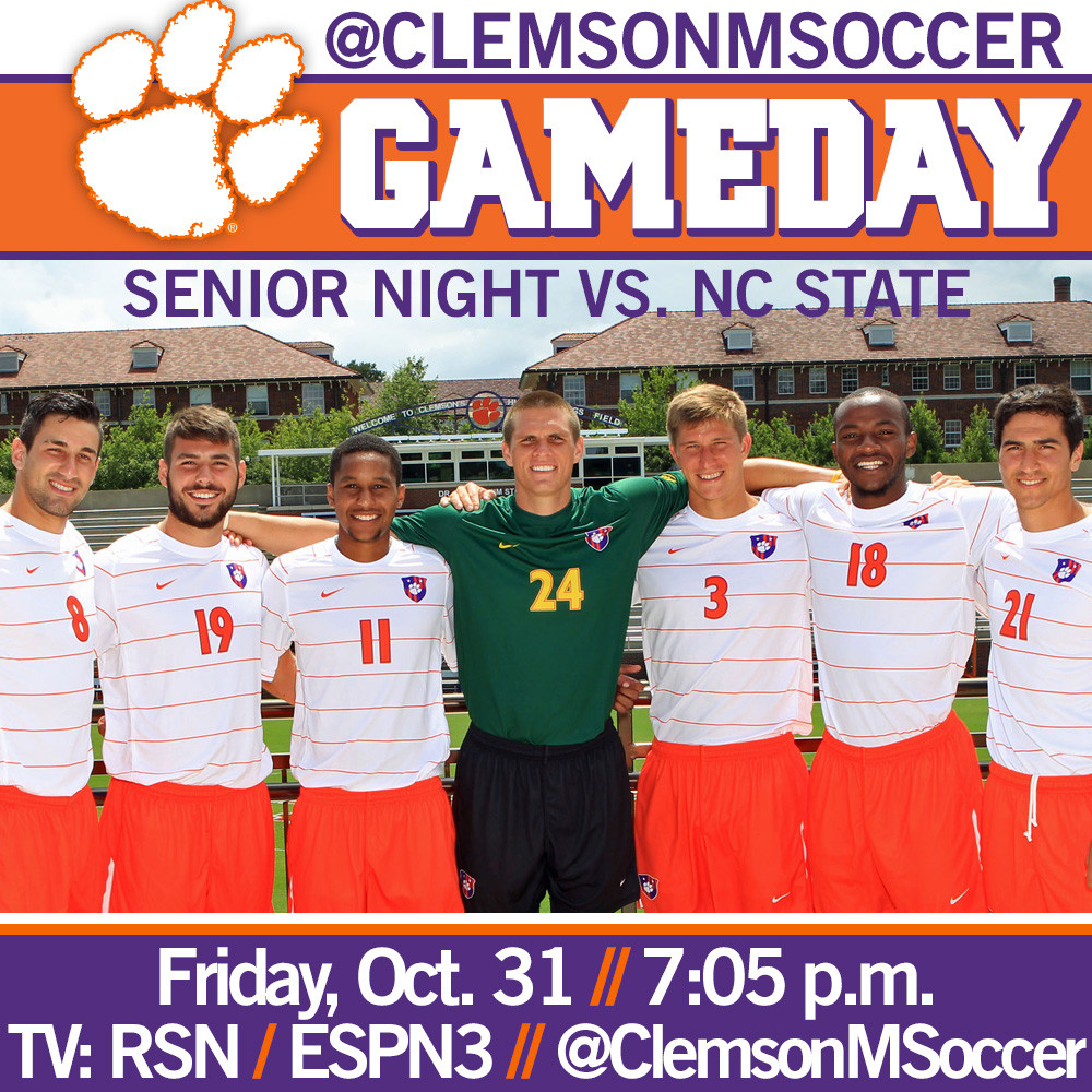 No. 19 Clemson Hosts NC State on Senior Night