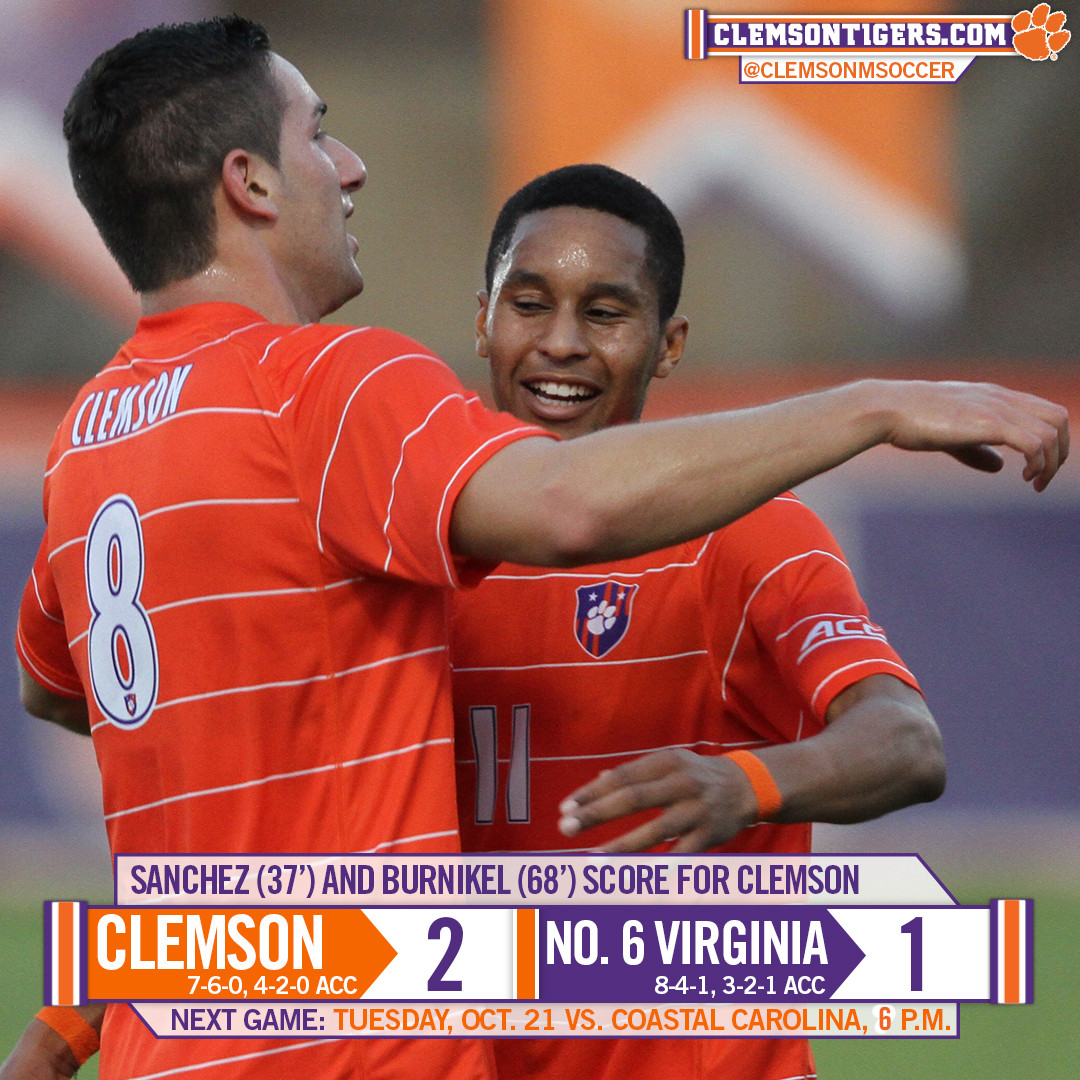 Clemson Knocks Off No. 6 Virginia 2-1 Friday Night