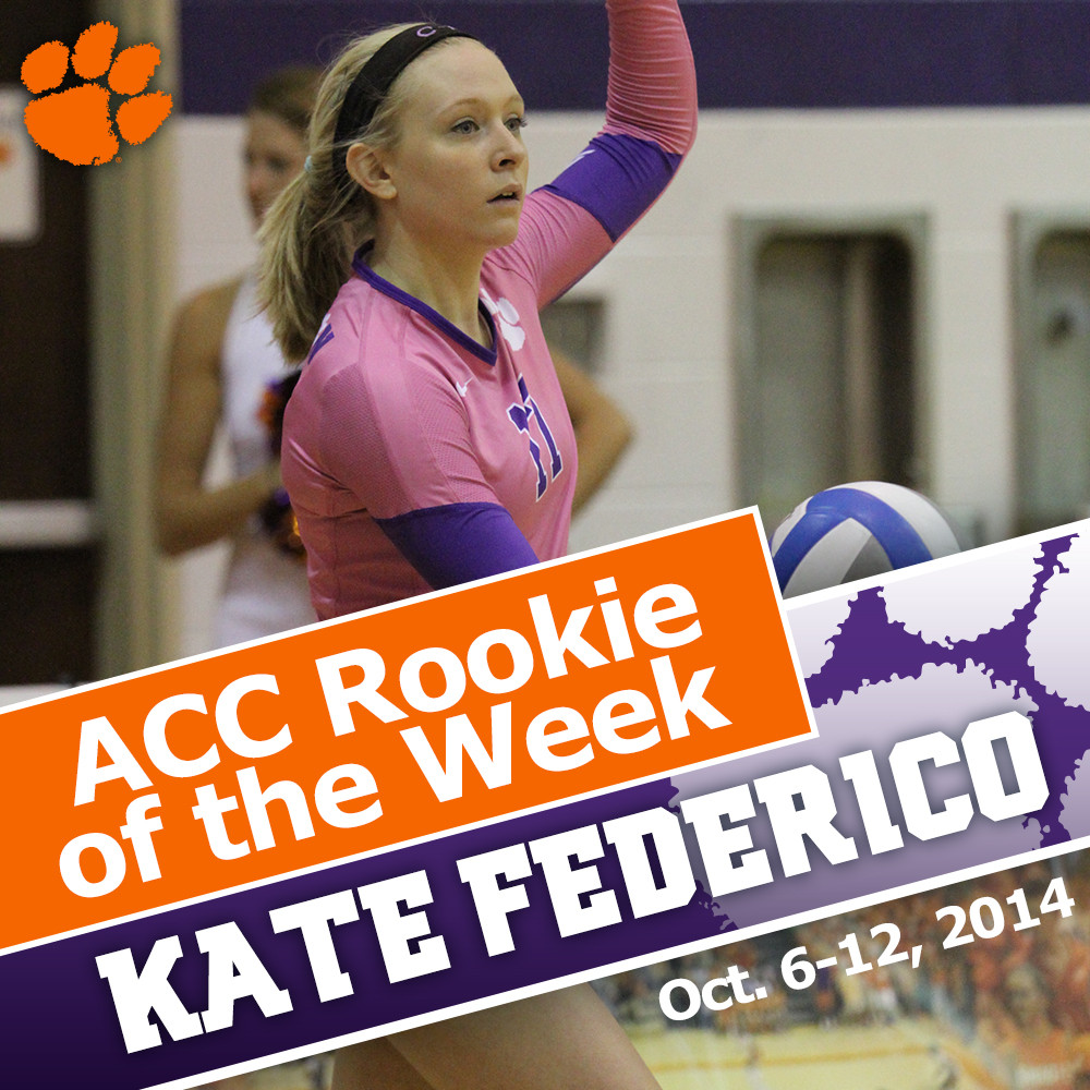 Federico Earns ACC Volleyball Rookie of the Week Honors