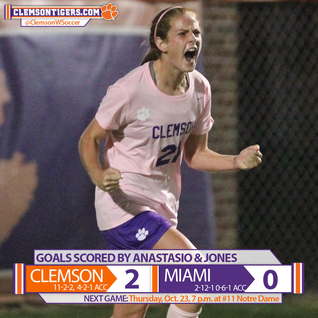 Tigers Defeat Miami 2-0 in Pink Game Saturday at Historic Riggs Field
