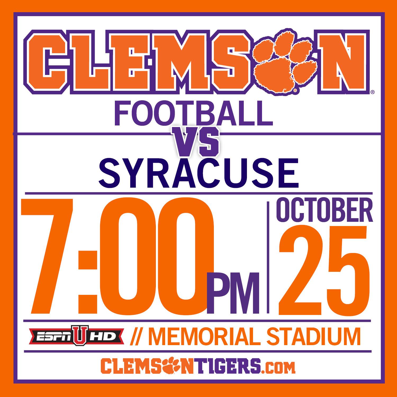 Cuse/Clemson Set for 7 p.m.