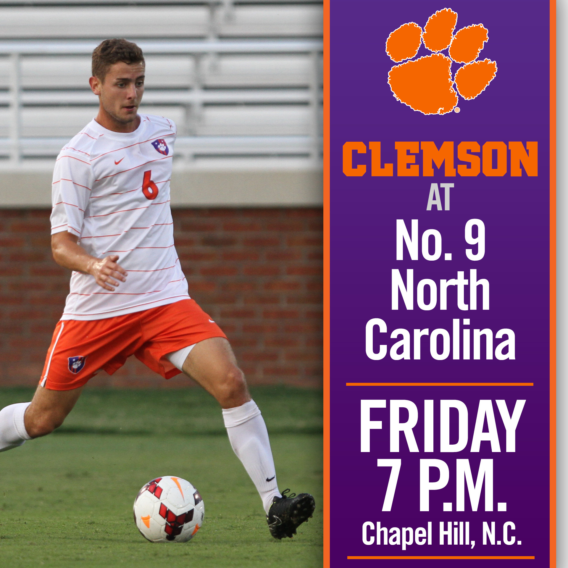 Clemson Visits No. 9 North Carolina