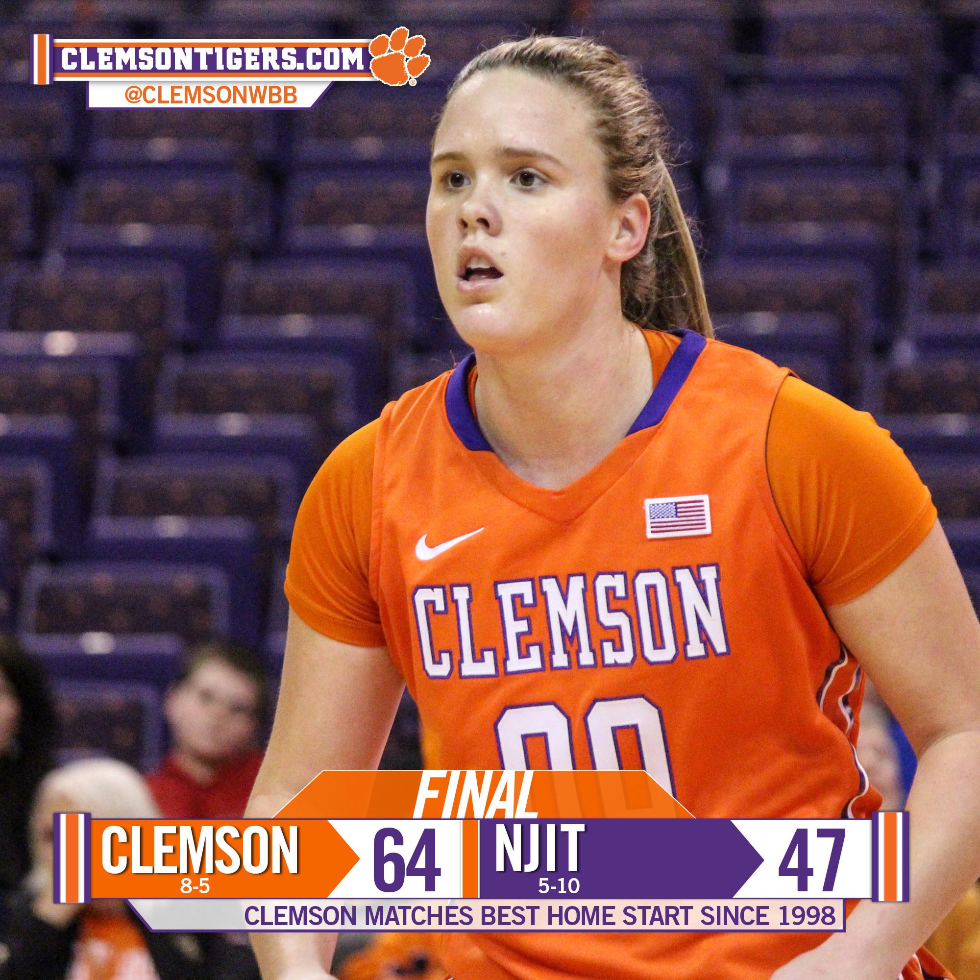 Clemson Tops NJIT, 64-47