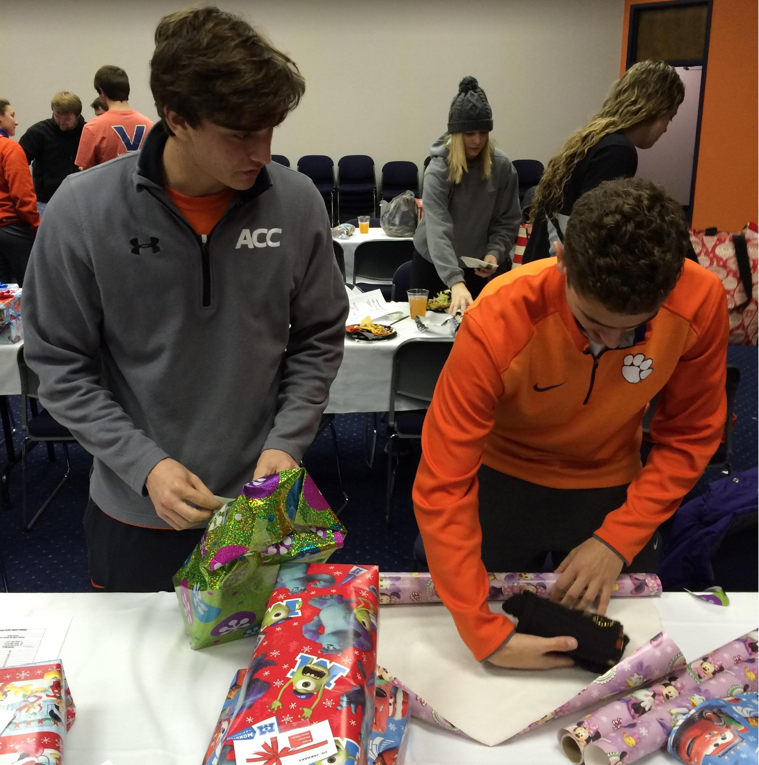 Wrapping For a Reason, Clemson Student-Athletes Give Back
