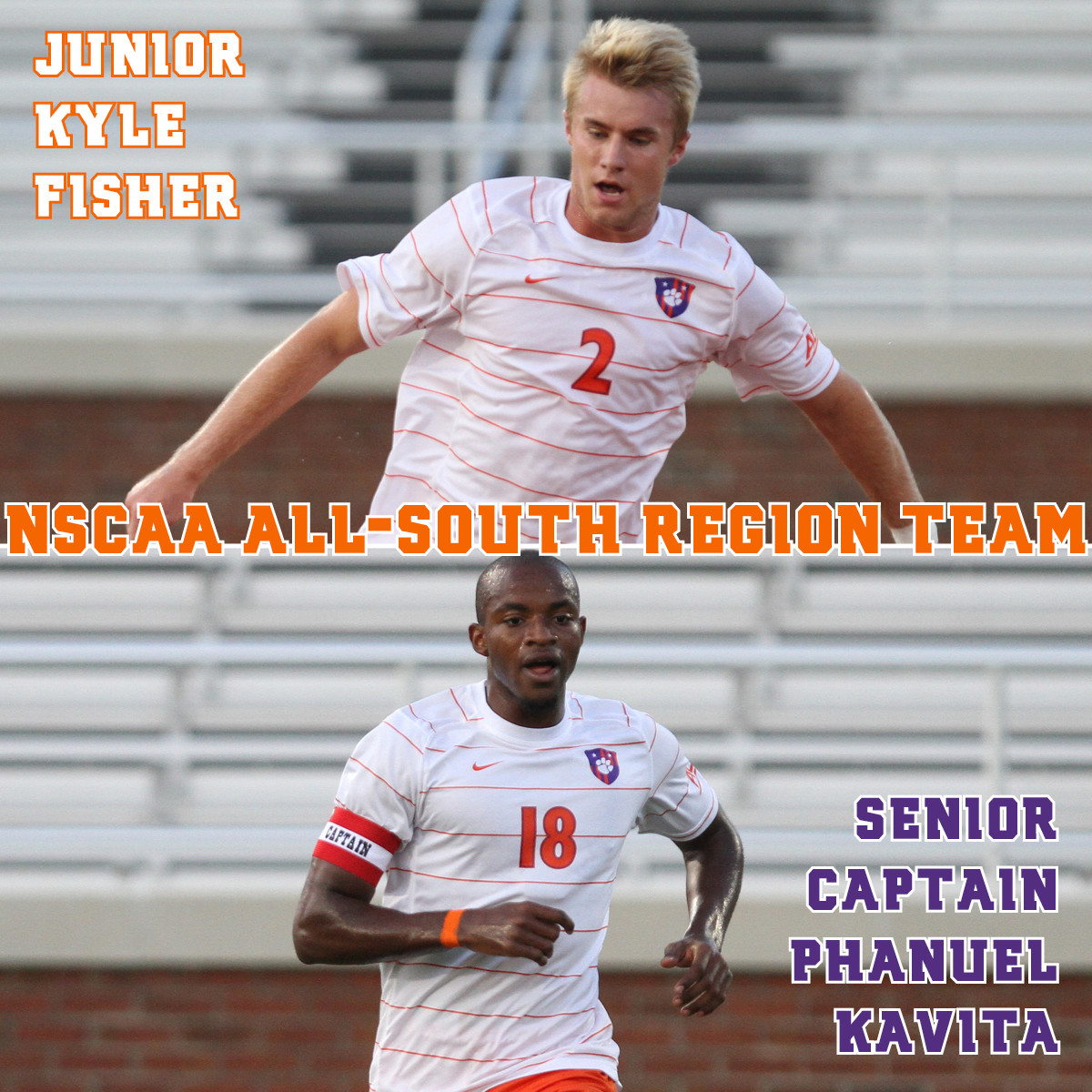 Kavita and Fisher Named to NSCAA All-South Region Team