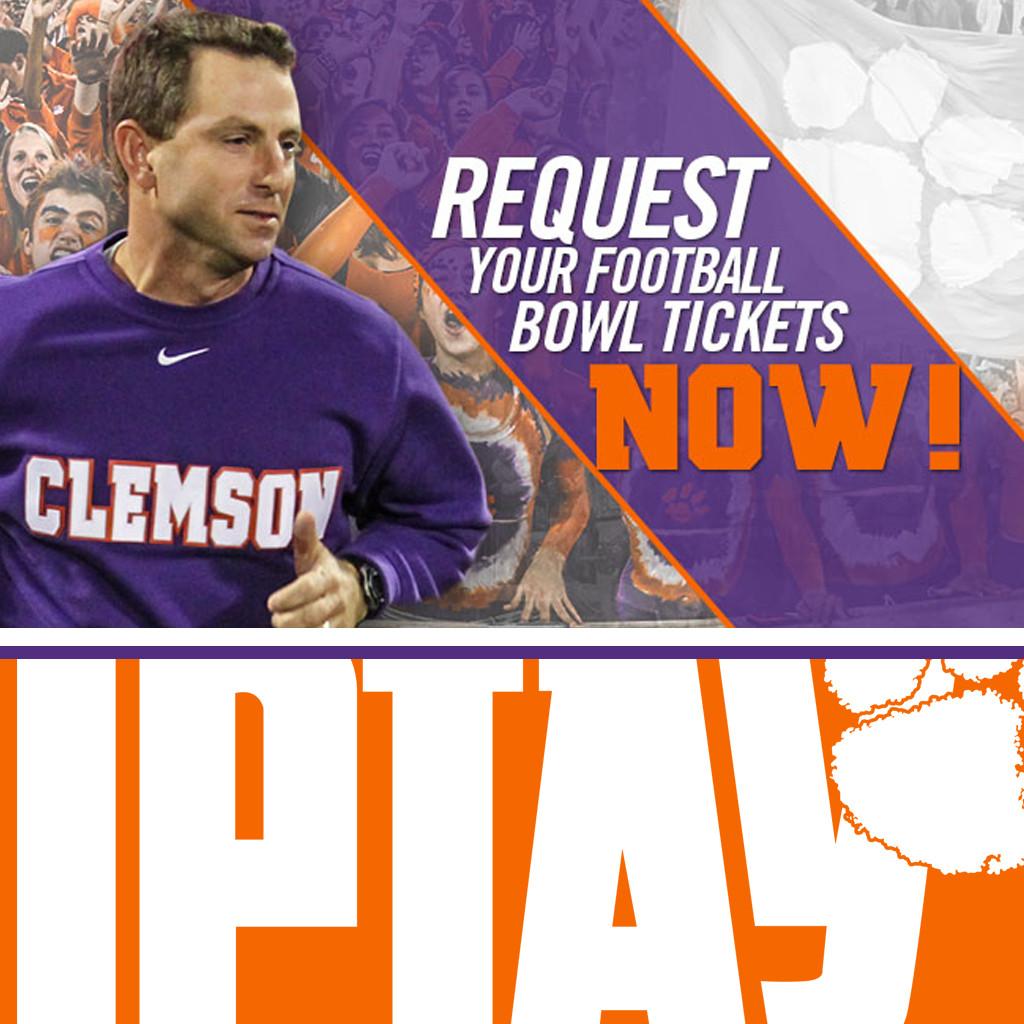 2014 Clemson Football Postseason Tickets