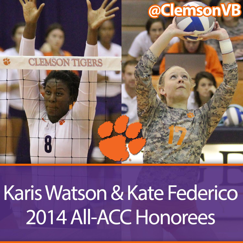 Watson & Federico Earn All-ACC Honors