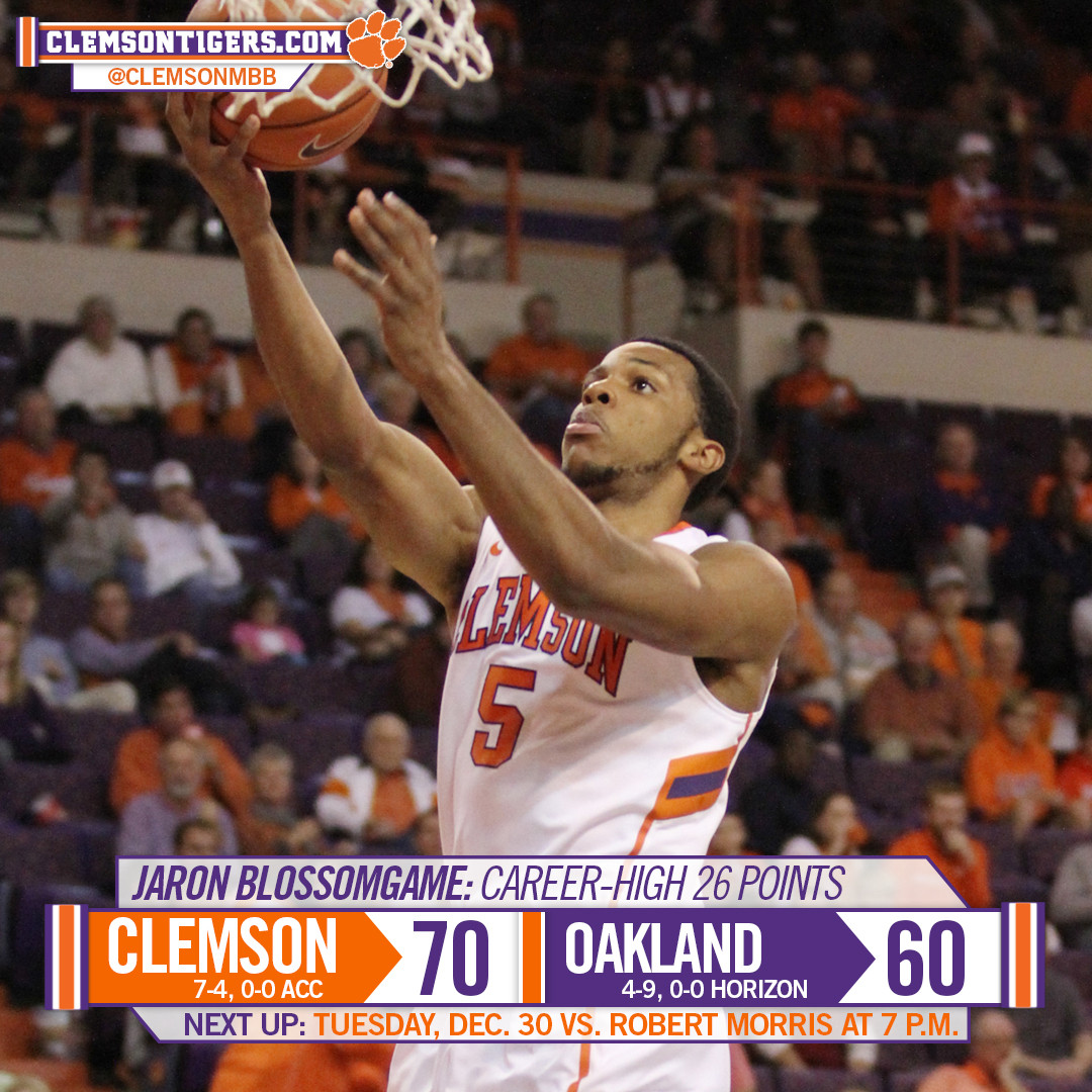 Tigers Knock Off Oakland, 70-60