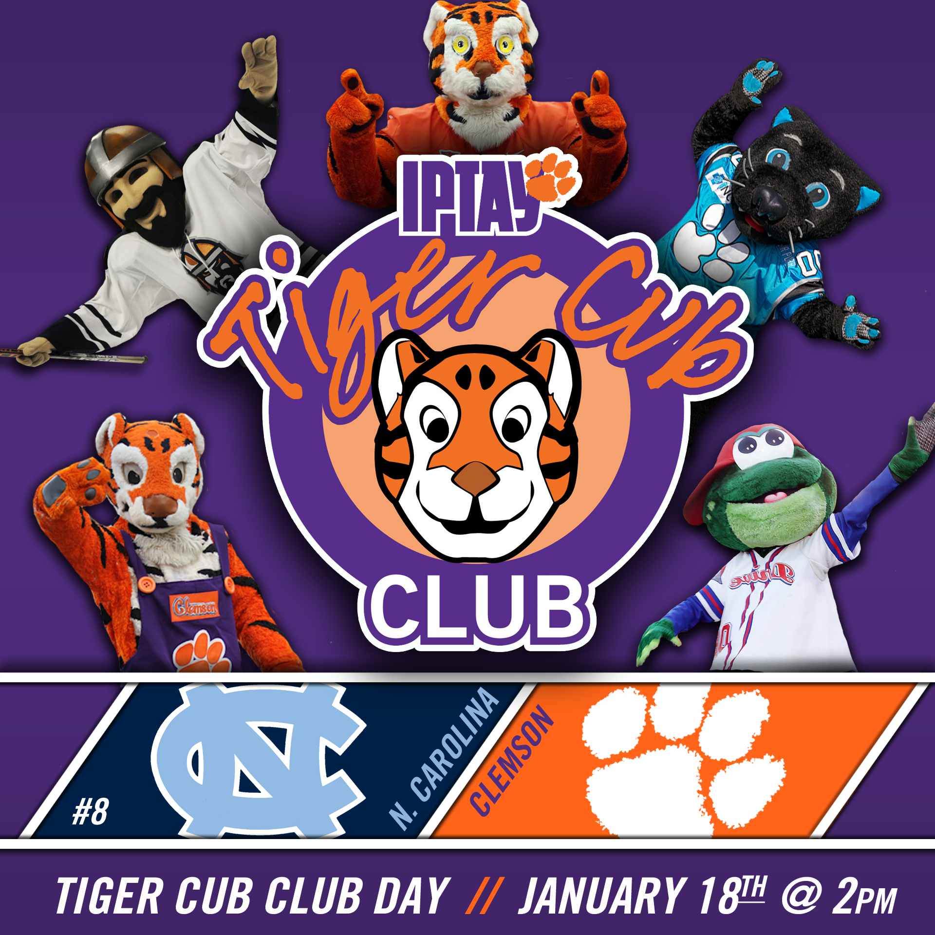 Tiger Cub Club/CATS Day at Women's Basketball: Sunday, January 18