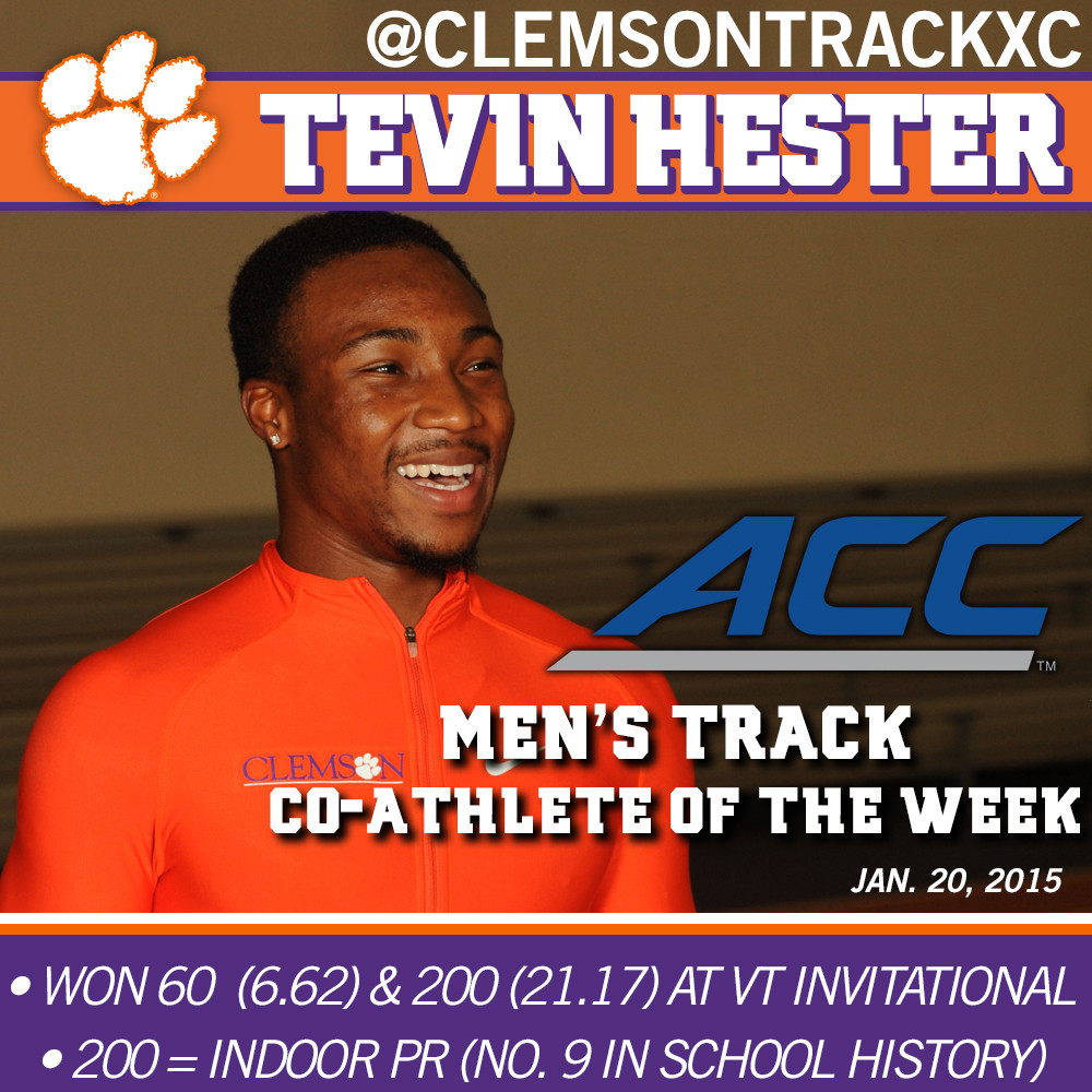 Hester ACC Men?s Track Co-Athlete of the Week