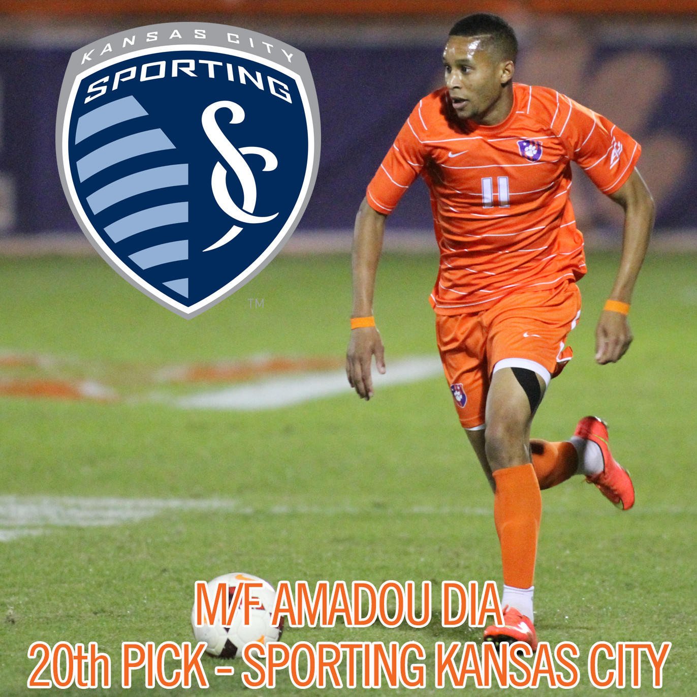 Clemson?s Amadou Dia Selected by Sporting KC in First Round of MLS Draft