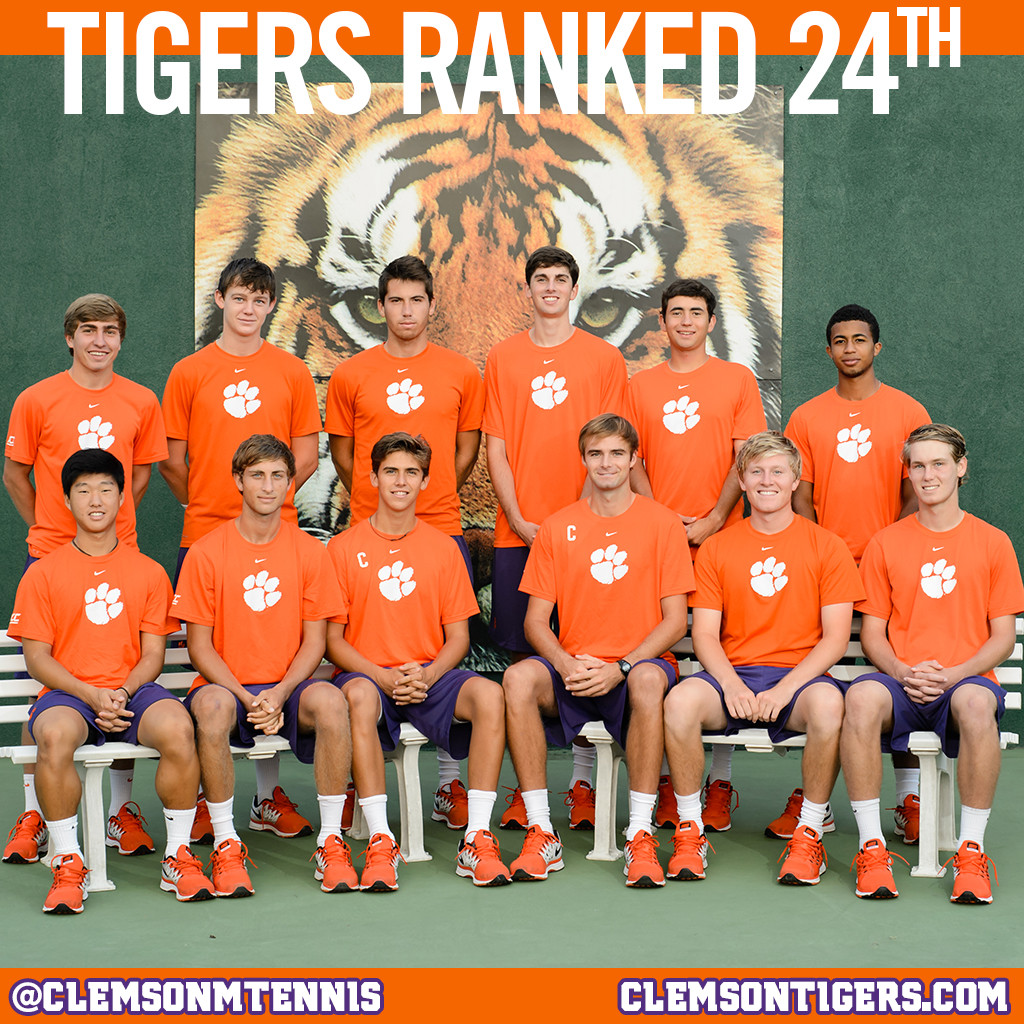 Clemson Ranked 24th in ITA Poll