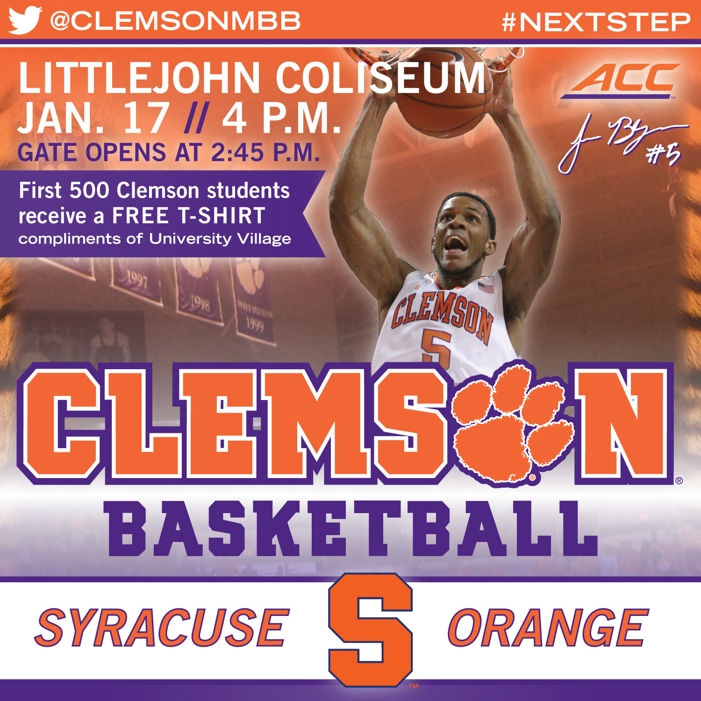 Tigers Host Syracuse on Saturday