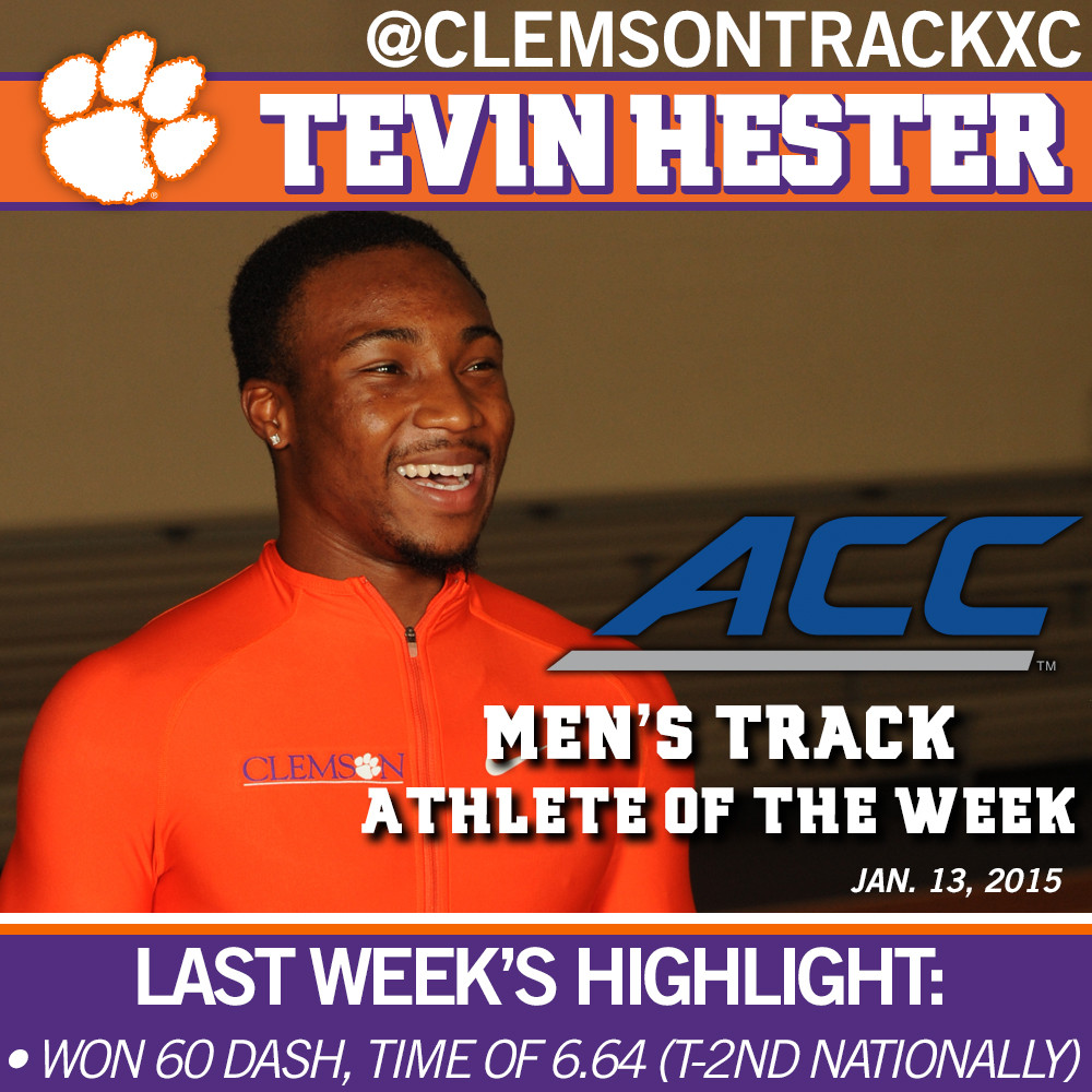 Hester ACC Men's Track Athlete of the Week