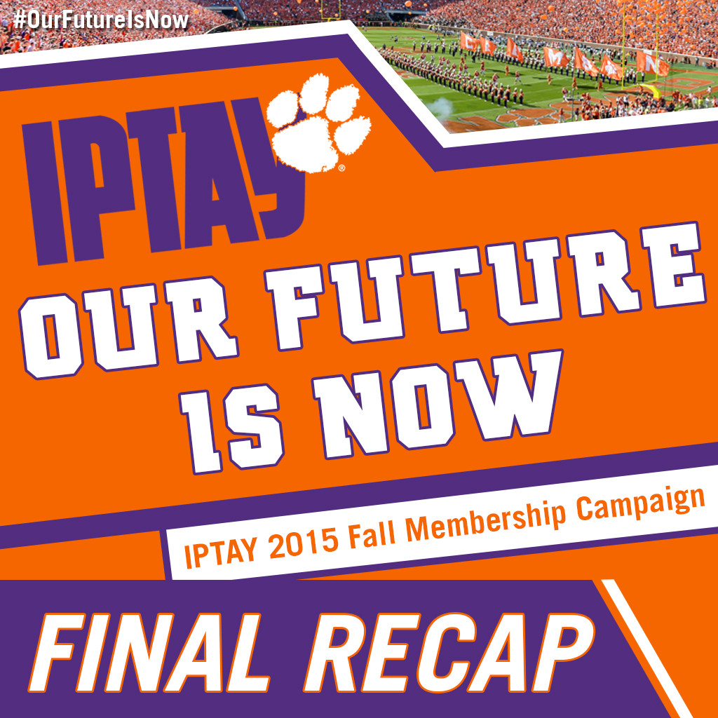 """FINAL RECAP: IPTAY 2015 """"Our Future Is Now"""" Fall Membership Campaign"""