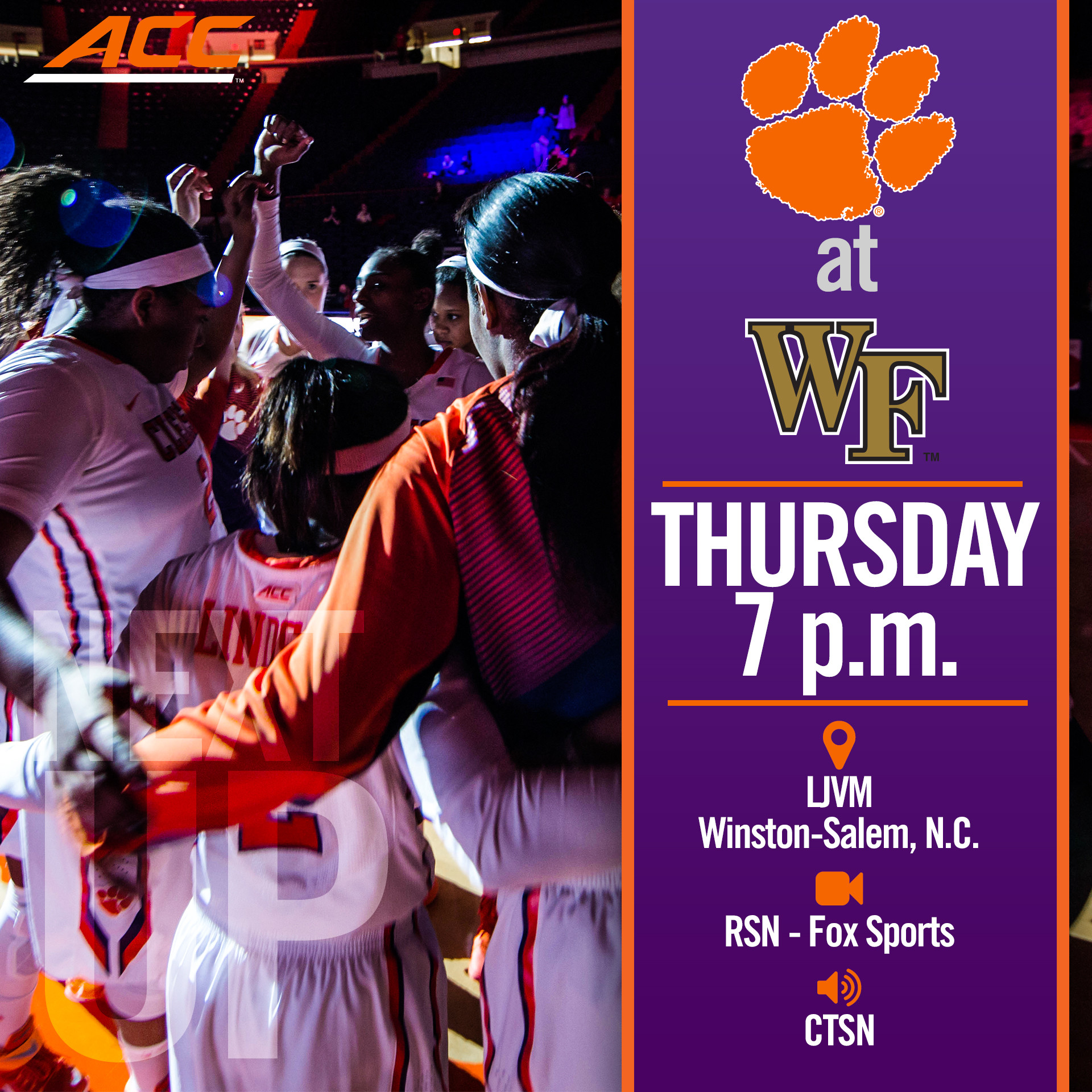 Women's Hoops Heads to Wake Forest
