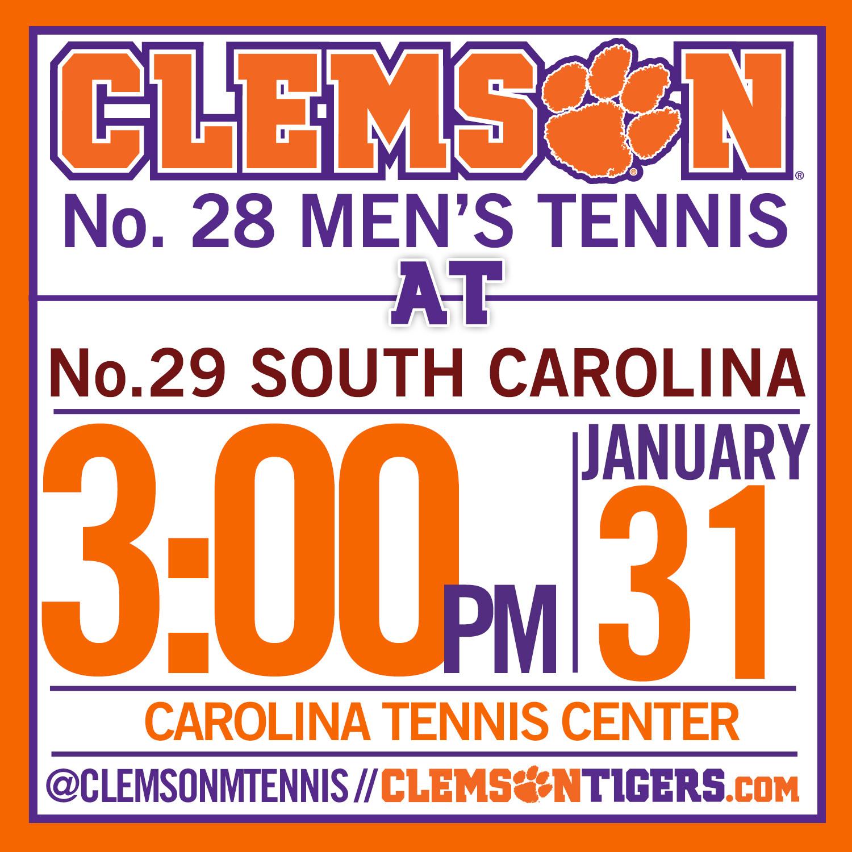 No. 28 Clemson Visits No. 29 South Carolina on Saturday
