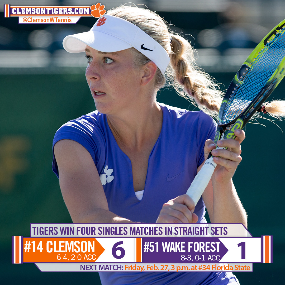 Tigers Defeat Demon Deacons, Improve to 2-0 in ACC