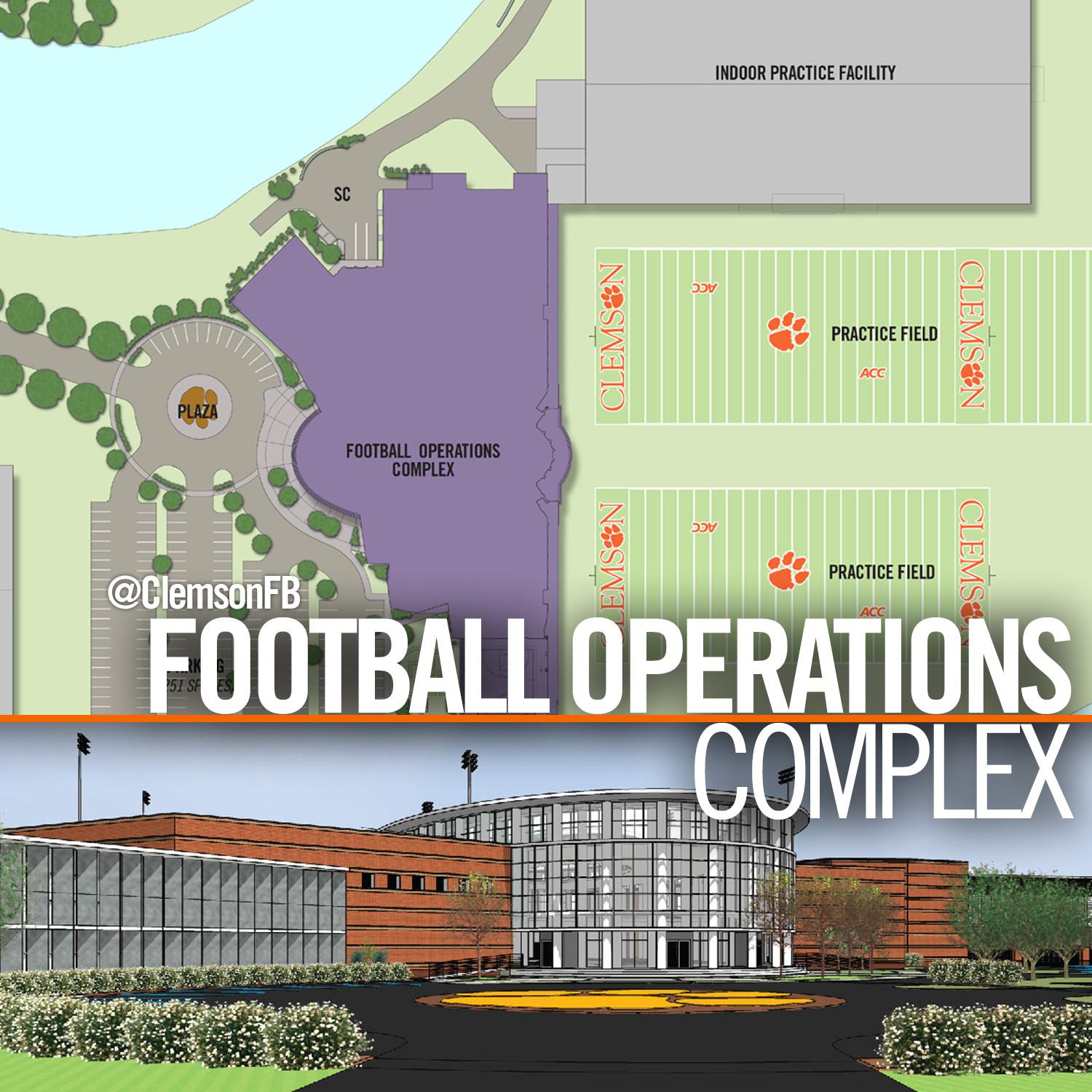 Clemson Board of Trustees Gives Approval for Football Operations Building Project