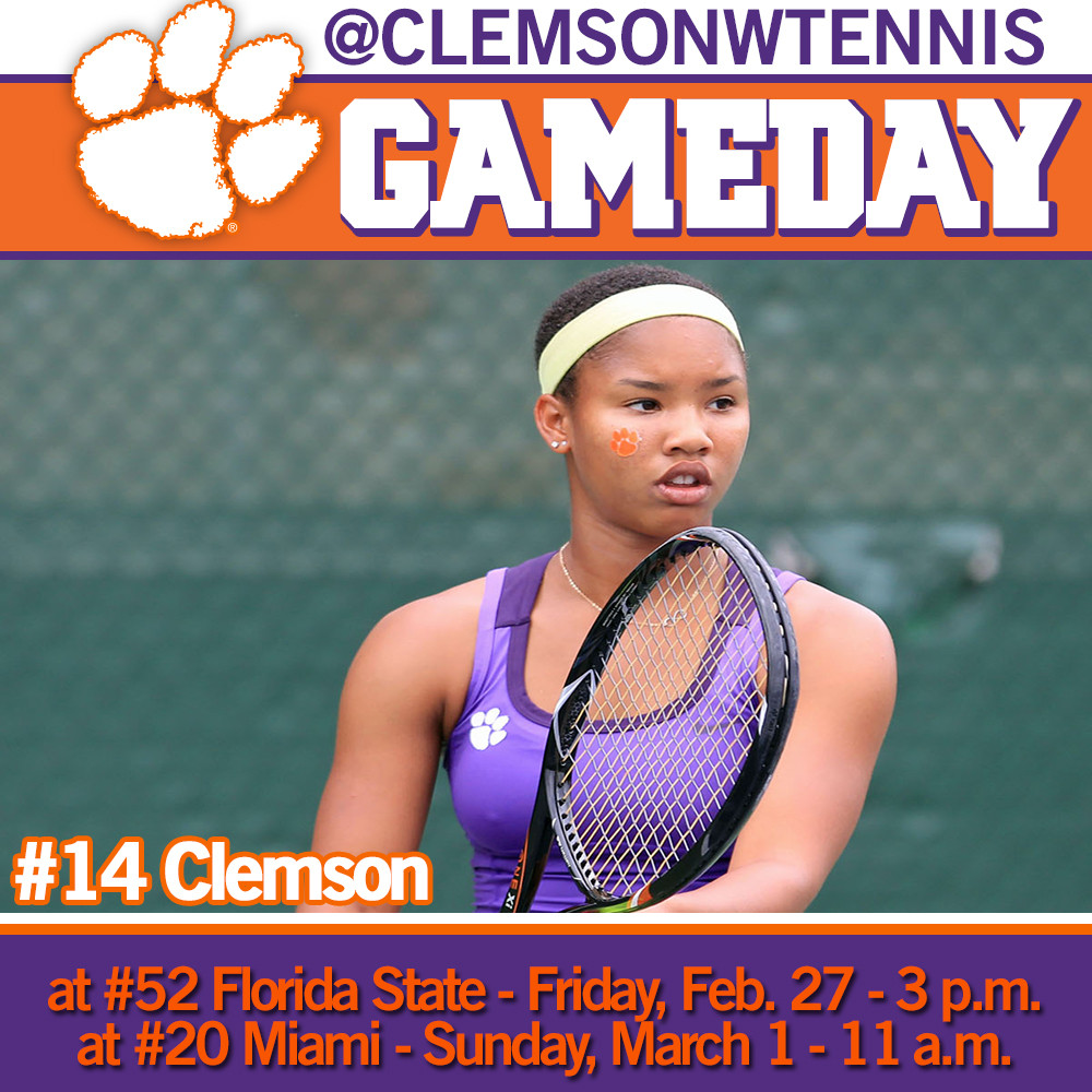 Tigers Travel to Face Florida State Friday, Miami Sunday