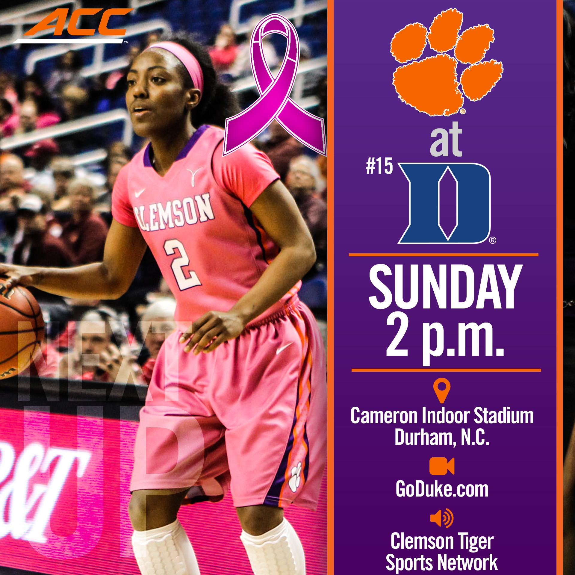 Tigers Play No. 15 Duke at Cameron