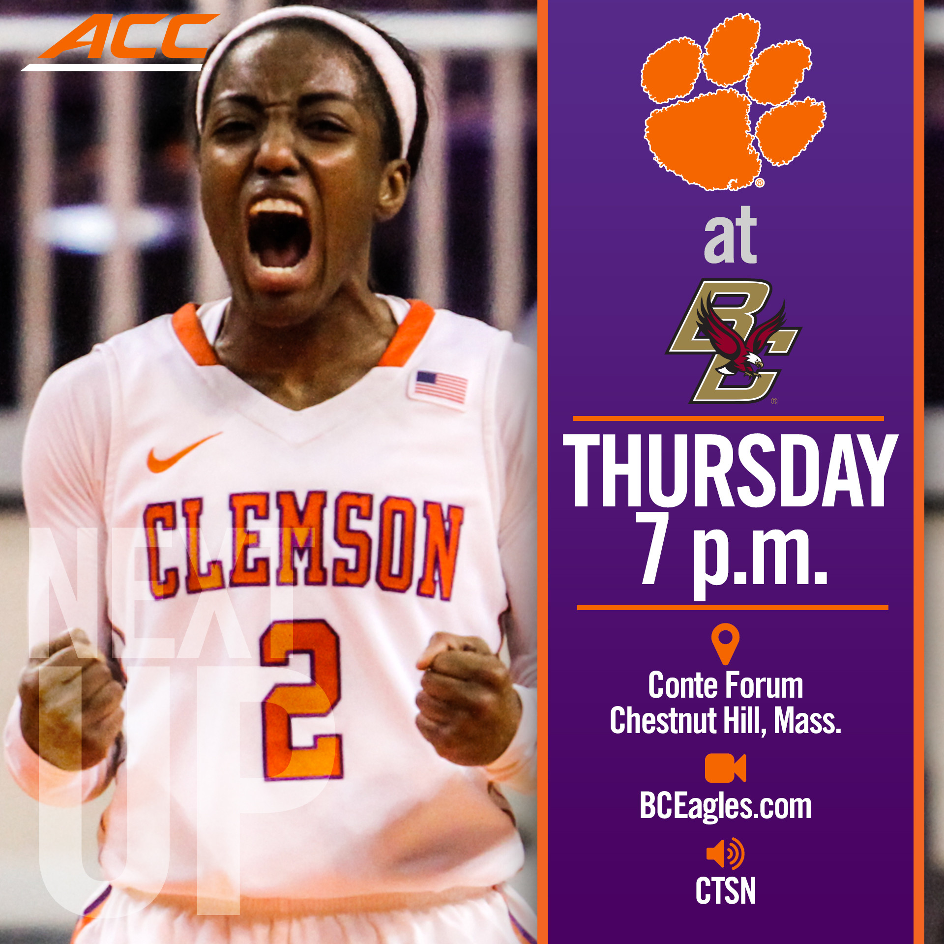 Tigers Take on BC Thursday
