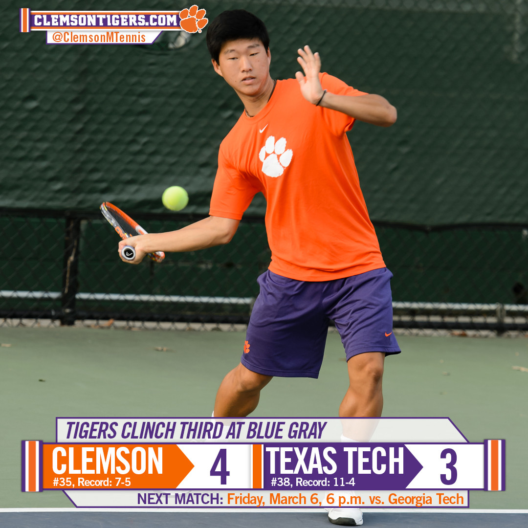No. 35 Clemson Rallies Past No. 38 Texas Tech for Third at Blue Gray