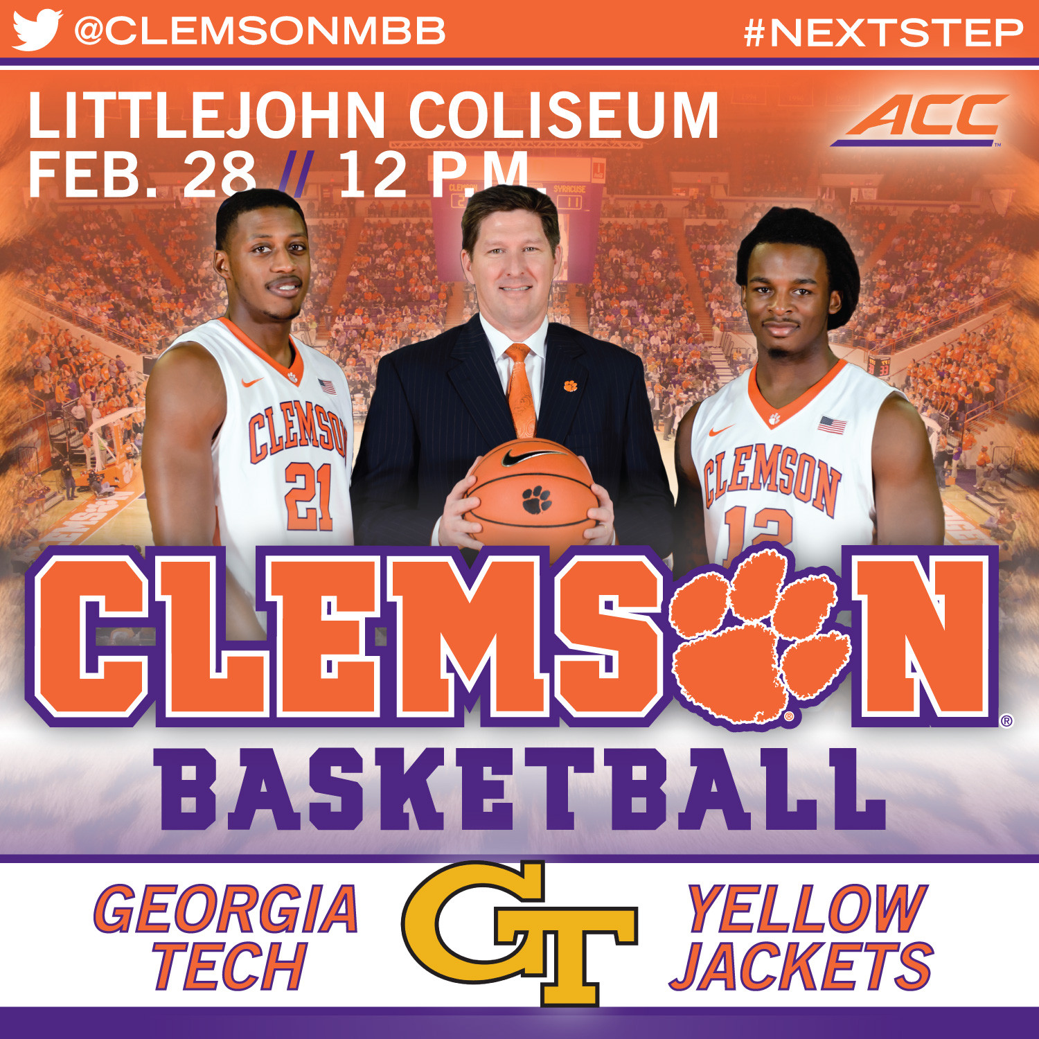 Tigers Host Georgia Tech Saturday